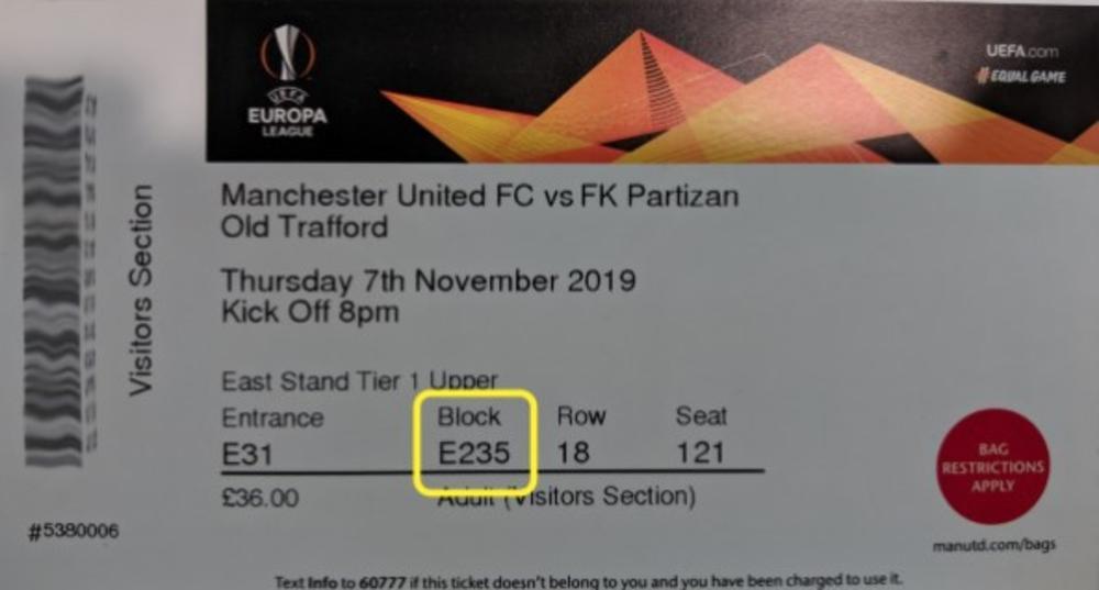 UPOZORENJE FK PARTIZAN: Svi navijači koji su kupili karte za meč Junajteda i Partizana da obrate pažnju na ovu GREŠKU! (FOTO)