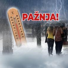 UPOZORENJE! NA SNAZI NARANDŽASTI METEOALARM: Danas u celoj Srbiji OBILNE PADAVINE, šibaće nas JAKI PLJUSKOVI