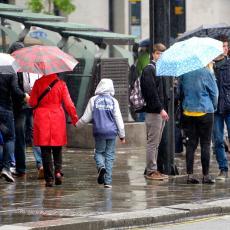 UPOZORENJE! U narednim satima ne izlazite bez kišobrana - april nam umesto sunca donosi PLJUSKOVE i SNEG