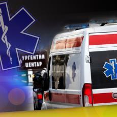 UŽAS NA ZVEZDARI! MOTOCIKLISTA PREVEZEN NA REANIMACIJU: Udario u zid, vozio BEZ KACIGE - lice mu bilo krvavo