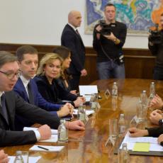 Sastali se Vučić i Borel: Srbija ne nudi kompromis dok se ne ukinu prištinske takse (FOTO)