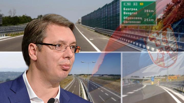UŽIVO NA TV PINK I PINK.RS - OTVARANJE AUTO-PUTA MILOŠ VELIKI Predsednik Vučić krenuo u obilazak deonice od Obrenovca do Ljiga: Ovaj put je PONOS SRBIJE! (FOTO)