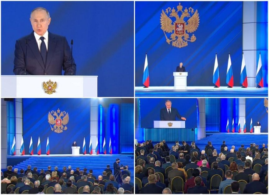 PUTIN SE OBRATIO FEDERALNOJ SKUPŠTINI: Rusija će štititi svoje interese i naš odgovor će biti BRZ i OŠTAR!