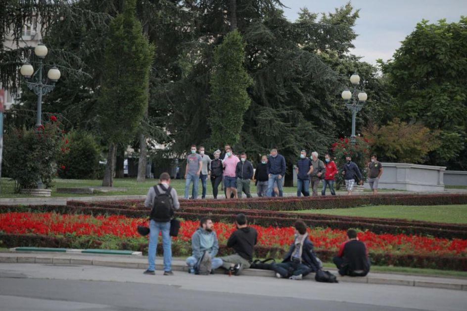 ŠESTI DAN PROTESTA: Najmanje demonstranata do sada, jedini incident izazvala devojka (KURIR TV)