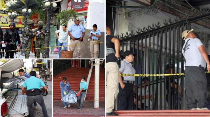 UZNEMIRUJUĆE FOTOGRAFIJE NAKON MASAKRA: Policija iznosi tela mrtvih iz bara, 7 osoba se bori za život (FOTO)