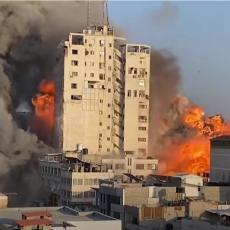 (UZNEMIRUJUĆI VIDEO) SRUŠILA SE KAO KULA OD KARATA: Otkriveno šta se nalazilo u zgradi uništenoj u napadu izraelskih aviona