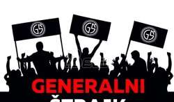 Udruženje Ujedinjeni narod Srbije protestuje ispred Skupštine, traže oslobadjanje njihovog ...