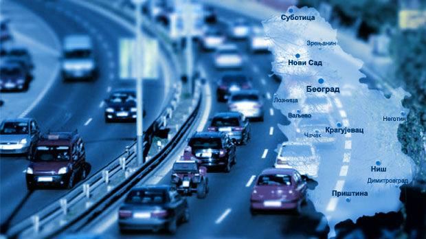 umeren saobraćaj na glavnim putnim pravcima