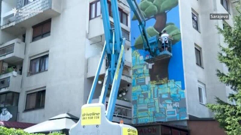 Umjesto drveća oslikane fasade u Sarajevu