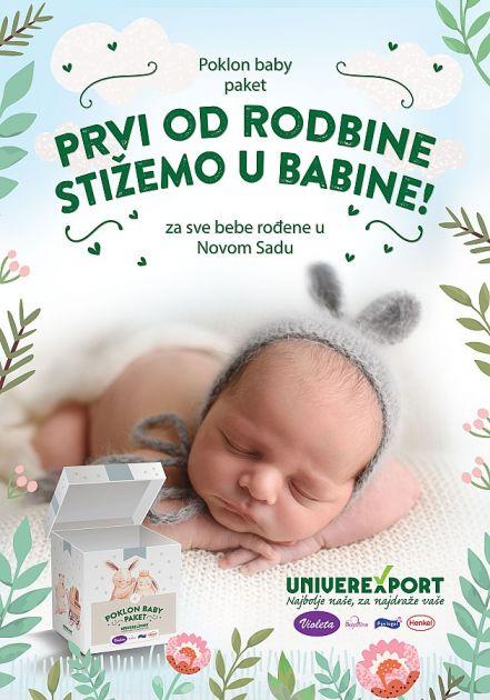 Univerexport poklanja pakete za sve bebe rođene u Novom Sadu