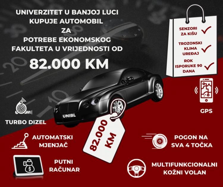 Univerzitet: Novo vozilo nam treba jer je postojeće staro 13 godina
