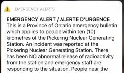 Upozorenje na incident u kanadskoj nuklearnoj elektrani greškom poslato milionima