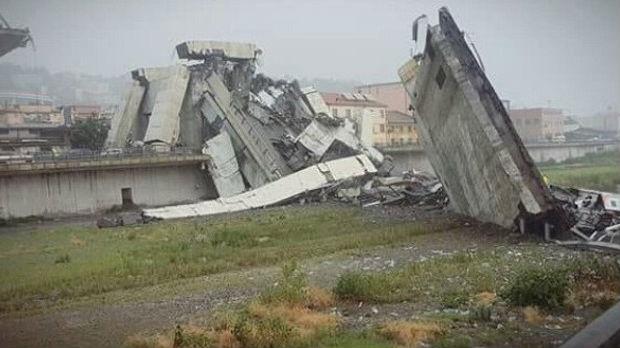Srušio se vijadukt u Đenovi – 35 mrtvih, spasioci na terenu