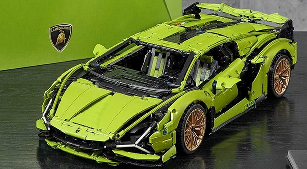 VDEO: Lego Lamborghini Sian u razmeri 1:8