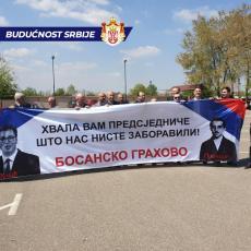 VELIČANSTVENA PORUKA ZA PREDSEDNIKA VUČIĆA! Srbi iz rodnog mesta GAVRILA PRINCIPA znaju da NISU ZABORAVLJENI (FOTO)