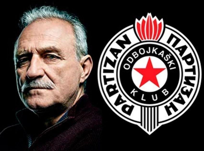 VELIKA GLUMAČKA LEGENDA UZ ODBOJKAŠE PARTIZANA: Lazar Ristovski stao uz klub koji voli!