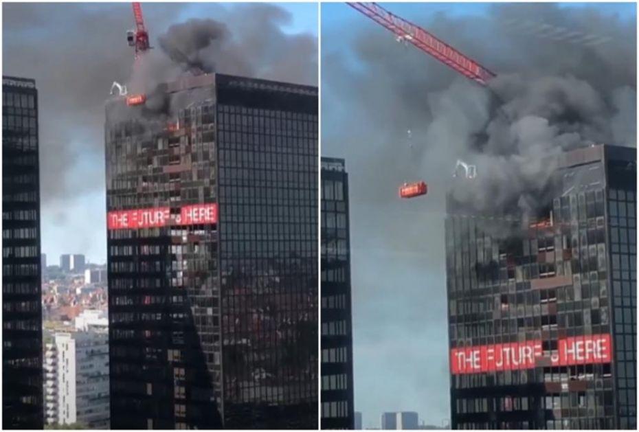 VELIKI POŽAR U BRISELU: Vatra buknula na 27. spratu trgovinskog centra (VIDEO)
