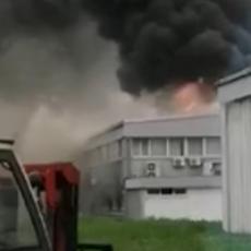 VELIKI POŽAR U NOVOM SADU! Gori fabrika, OGROMAN broj vatrogasaca na terenu (FOTO/VIDEO)