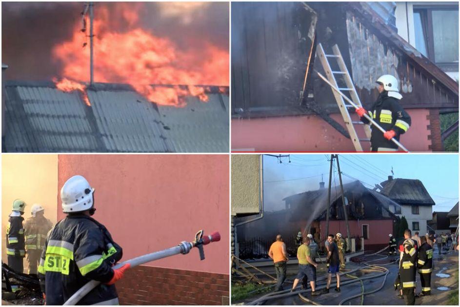 VELIKI POŽAR U SELU KOD KRAKOVA Vatrogasci se satima borili sa vatrenom stihijom: Uništeno više od 30 kuća, ima povređenih VIDEO