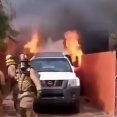 (VIDEO) Odgurnuo je vatrogasce da spasi psa i nestao U PLAMENU: Trenutak kasnije, svi su ZANEMELI!