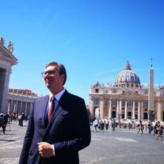 VIDEO SAM BRIGU ZA SRPSKI NAROD Vučić rezimirao posetu Vatikanu, pa pomenuo odnos između Srba i Hrvata
