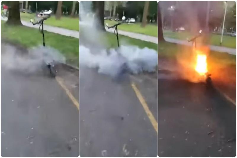 VIDEO Šta može da vam se desi ako vozite električni trotinet