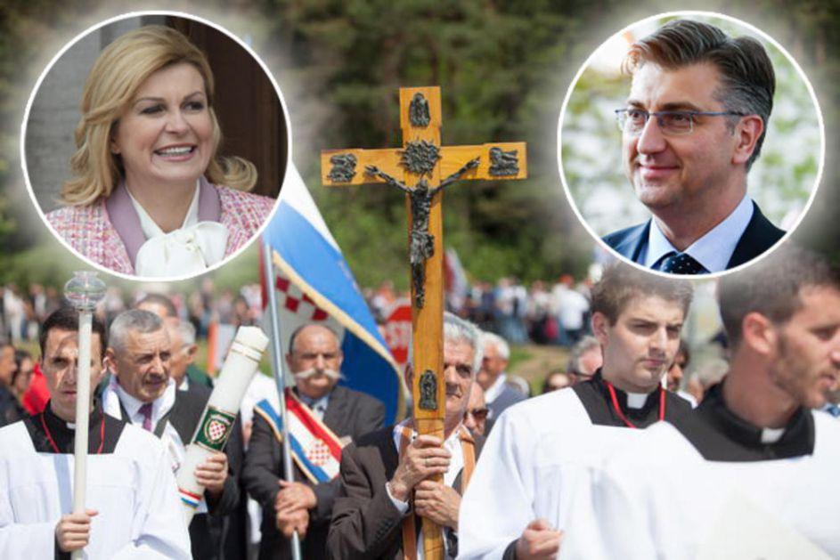 VODEĆI HRVATSKI POLITIČARI IZBEGLI BLAJBURG: Ustaški dernek bez Plenkovića, Kolinde i  Jandrokovića!