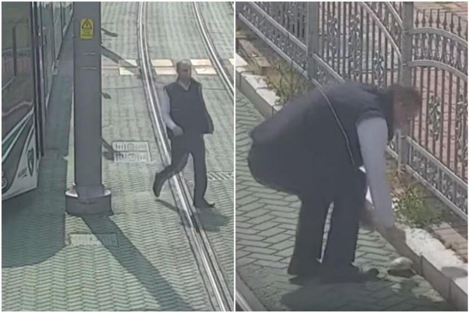 VOZAČ TRAMVAJA JE JUNAK DANA: Zaustavio je vozilo i spasio kornjaču sa šina, nadzorne kamere snimile divan trenutak VIDEO