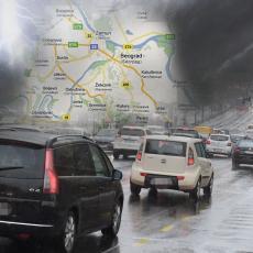 VOZAČI, OPREZ! Otežani uslovi za vožnju - kiša lije u većem delu zemlje