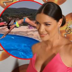VRELO TELO U LETU: Sanja Kužet pokazala atribute prilikom skoka u bazen! (FOTO/VIDEO)