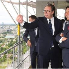 VUČIĆ I PAHOR POSETILI BEOGRAD NA VODI: Slovenačkom predsedniku predstavljen ponos prestonice (FOTO)