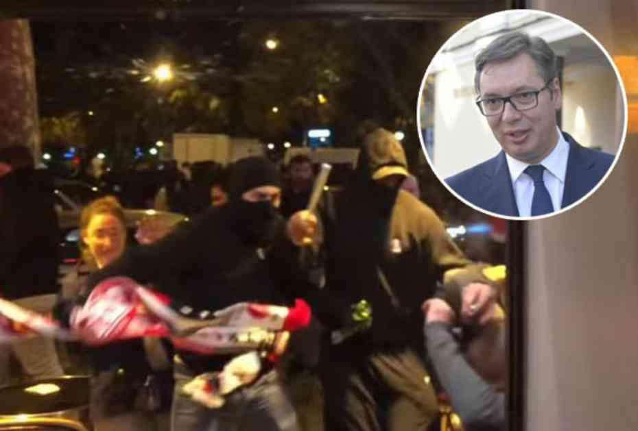 VUČIĆ OŠTRO OSUDIO NAPADE NA SRBE U PARIZU: Nisu mogli da se čuju od navijača Zvezde na stadionu, pa su motkama rešili da iskale bes! (VIDEO)