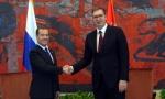 VUČIĆ POSLE SASTANKA SA MEDVEDEVIM:  Čast što ste baš danas u Beogradu; Susret sa Putinom u Sočiju