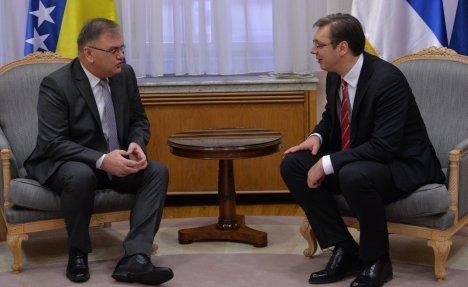 VUČIĆ SA IVANIĆEM: Dobri odnosi Srba i Bošnjaka za mir i stabilnost u regionu