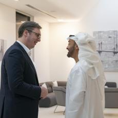 VUČIĆ U ABU DABIJU: Predsednik Srbije i prestolonaslednik i Mohamed bin Zajed o jačanju saradnje, KiM regionu