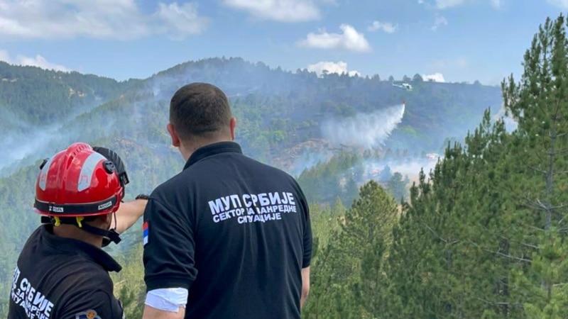 Vanredna situacija zbog požara na Mokroj Gori