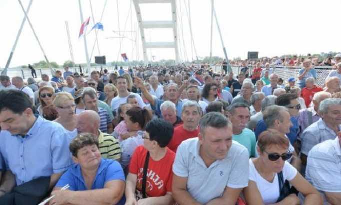 Veliki broj građana na otvaranju mosta Žeželj (FOTO)