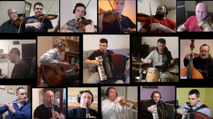 Veliki narodni orkestar RTV u kampanji Ostani kod kuće (VIDEO)