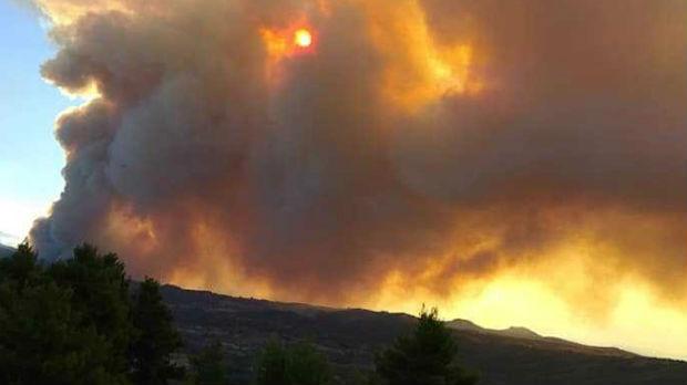 Tri velika požara u Grčkoj –  gori na Eviji, Tasosu, kod Tebe