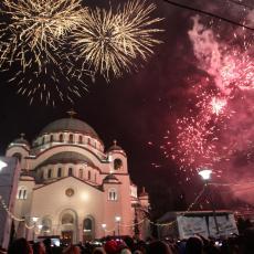 Veliko slavlje u Beogradu: Dočekana srpska Nova godina ispred Hrama Svetog Save