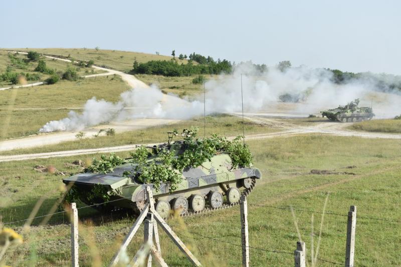 """Vežba Četvrte brigade na poligonu """"Borovac"""""""