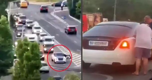 Video iz Rumunije: Rolls-Royce ostao bez goriva i blokirao saobraćaj