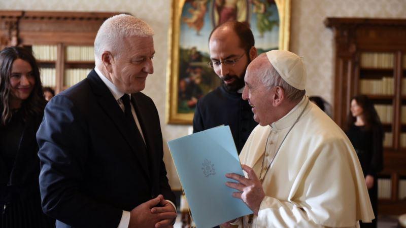 Vlada CG: Papa potvrdio dolazak 2020.