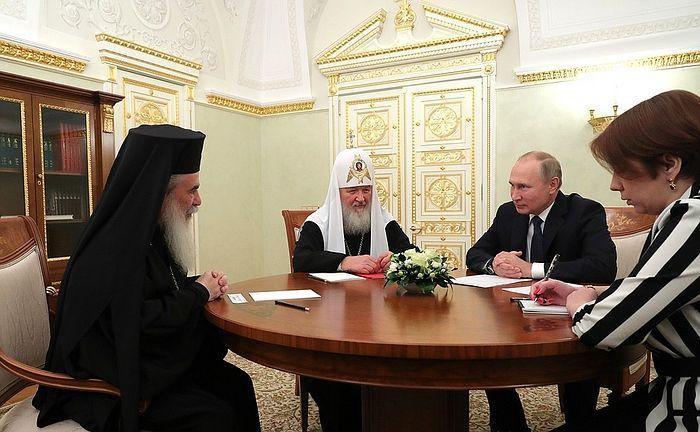 Vladimir Putin se sreo s Patrijarhom jerusaliskim