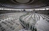 Vojska rasklapa krevete iz privremene bonice na Sajmu