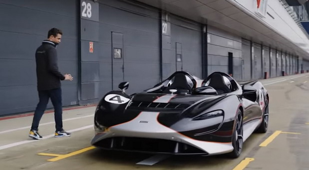 Vozač Formule 1 Lando Noris testirao McLaren Elva