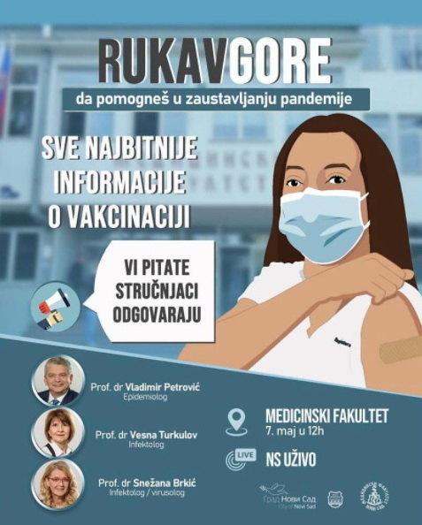 Vučević: Onlajn predavanje o vakcinaciji - Rukav gore, pomozi u zaustavljanju epidemije!