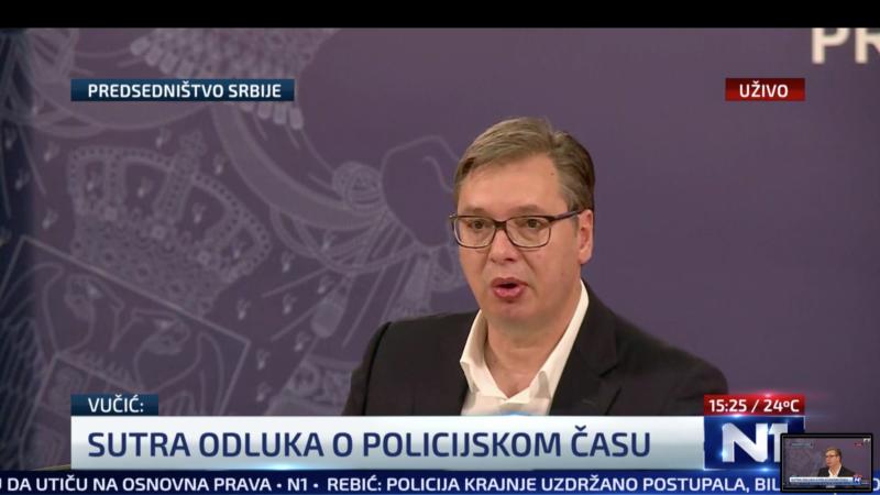 Vučić: Ispred skupštine političko nasilje desničara, umešan i strani faktor