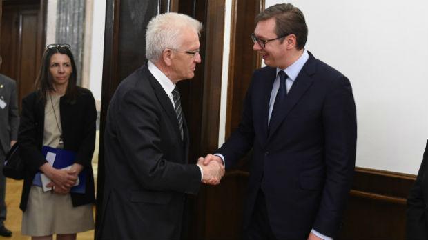 Vučić: Nemačka za nas ključna zemlja, hvala na podršci