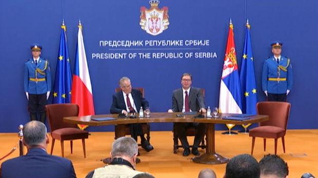 Vučić: Retki su nam takvi prijatelji; Zeman: Postaviću pitanje o povlačenju priznanja Kosova